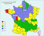 kussenkaart Frankrijk